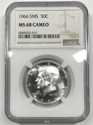 1966 SMS Kennedy Silver Half Dollar NGC MS 67 Price Guide $75