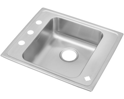 Elkay DRKAD2220504 Lustertone Single Drop-in Stainless Steel Classroom ADA Sink