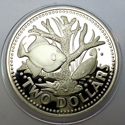 Barbados 2 Dollars 1979 Proof Coin - Staghorn coral (83,8)
