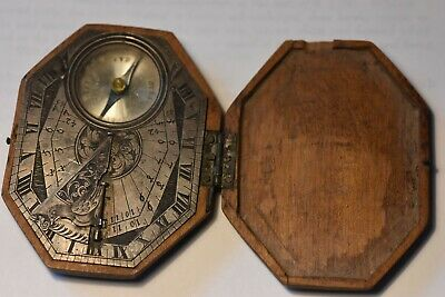 Silver Butterfield Sundial-Compass. French, Signed P. Sevin, Circa 1780-1789