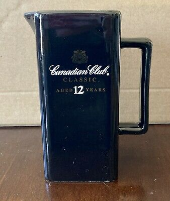 Vintage Canadian Club Classic Aged 12 Years Bar Pitcher