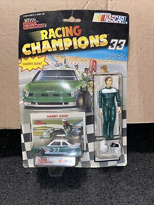 nascar Vintage 1992 Racing Champions Hary Grant #33 Poseable Figure with Die Cast Vehicle