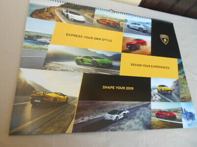 Official Lamborghini Wall Calendar 2019 Kalender Calendario Very Rare ! New!