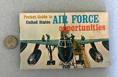 Vintage United States AIR FORCE Pocket Guide – Dated 1965 - 84 Pages RECRUITING