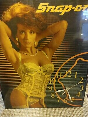 Vintage Snap-On Tool Clock, Billy Lace Lingerie Model.