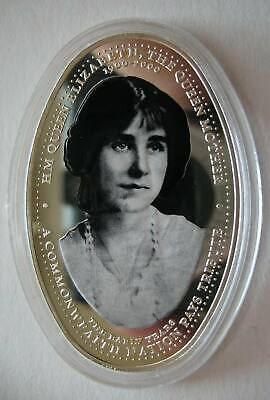 Zambia 4000 Kwacha 2000 Silver Proof Coin 100th Birthday Queen Mother,Young Lady