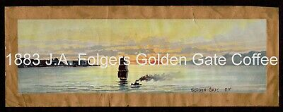 """""""A.J. FOLGERS"""" (1883) """"GOLDEN GATE COFFEE""""  The """"Grail Label"""" - GOLD MINER'S TIN"""