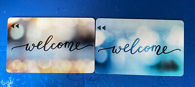 Hotel Motel Room Key Card - Welcome 2 Different Colors