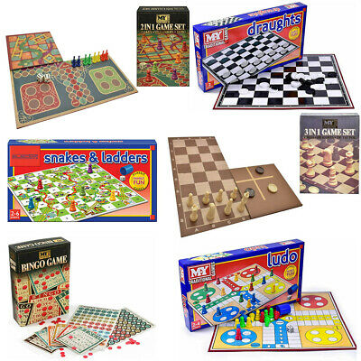 Full Size Traditional Classic Family Board Games Kids Indoor Fun Toy Game