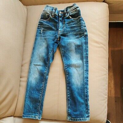Boys NEXT blue denim skinny jeans age 6 years