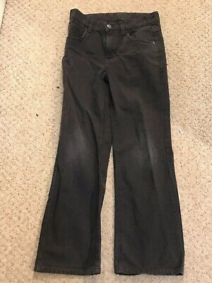 Next Black Straight Fit Boys Jeans Age 10-11 / 11-12 Button And Zip Fly Denim