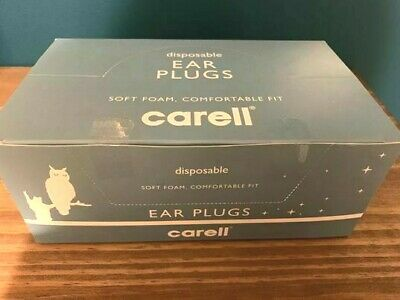 Carell Disposable Ear Plugs Soft Foam, Comfortable fit Box of 50 Packs