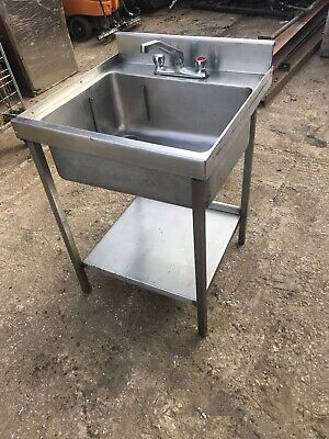 Commercial Stainless Steel Sink Unit With Under Shelf, Used