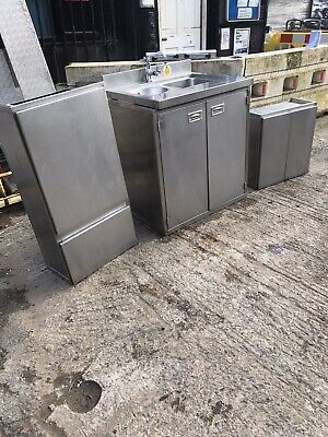 Stainless Sink Cupboard And Wall Units, Excellent Condition.