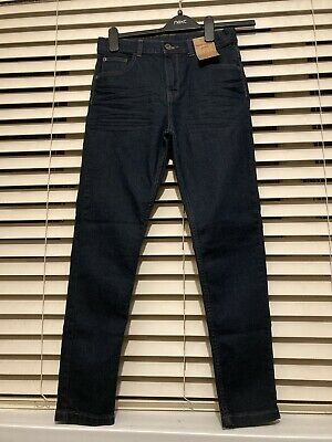 Boys New F&F Blue Skinny Stretch Jeans Aged 11-12 Years RRP £11