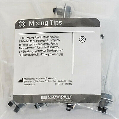Ultradent Dental Material Mixing Tips, 10 tips/bag, Lot of 3 bags, Disposable