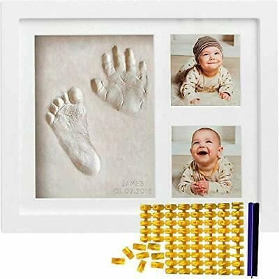 Co Little Baby Handprint & Footprint Kit Date & Name Stamp Clay Hand Print Pi...