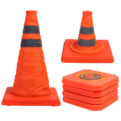 Multi Purpose Collapsible Reflective Warning Sign Traffic Cone Road Safety