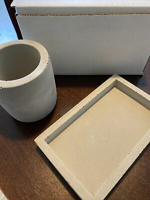 Port Living Co. Concrete Desktop Set Bespoke Box Made in the USA (New in box)