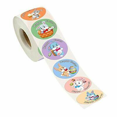 Easter Roll Stickers 38mm Assorted Easter Bunny Stickers Easter Eggs