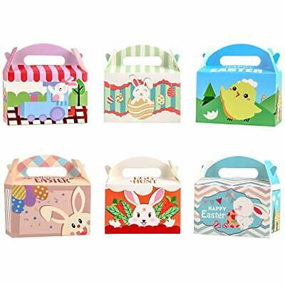 FINGOOO 24 pieces Easter Paper Candy Gift Boxes Goody Treat Cookie Sweet Boxes