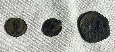 Lot of 3 ancient Roman and Byzantine coins