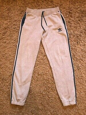 Adidas Mens Joggers Jogging Tracksuit Bottoms (Grey) Size Small