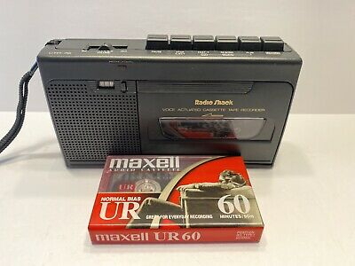 Radio Shack Voice Actuated Cassette Tape  Recorder CTR-76 WITH BLANK CASSETTE