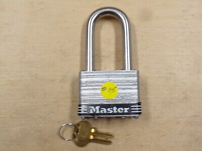 """Master Lock #15 Open Package With 2 Keys-3/8"""" Shackle--"""