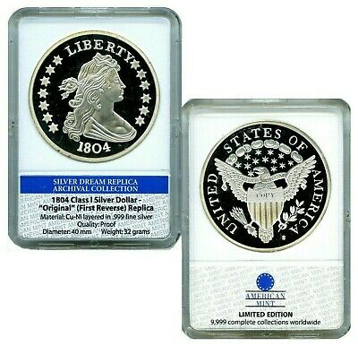 1804 CLASS I SILVER DOLLAR  ARCHIVAL EDITION COIN PROOF $100 Value