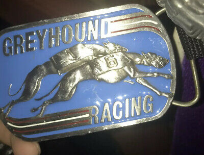 'Greyhound Racing' Belt Buckle  1990