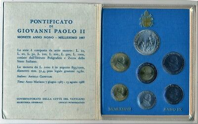 Vaticano - Coins IN Portfolio past Festive Gift- Year: 1987 - Number MS092 - FDC