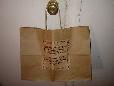 VTG 1990s Blowin' In The Wind Country Store Plymouth, Massachusetts Paper Bag