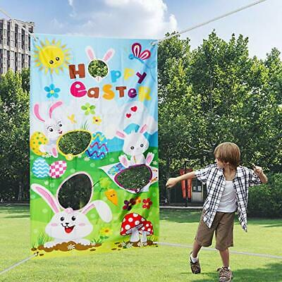 VEYLIN Easter Toss Games with 4 Bean Bags Fun Easter Game for Kids and Adults in