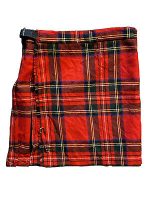 Vintage Hector Russell Kiltmaker Junior Red Tartan Scottish Kilt Age 6-7yrs