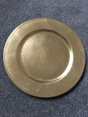 Round Gold Acrylic Charger Plate