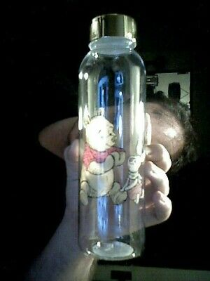 Disney Winnie The Pooh Characters  Gold Decorated Lid Water Bottle Birthday Kids