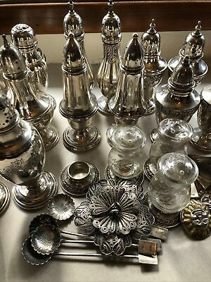 Sterling Silver Lot Scrap or Not Weighted & Not Weighted S&P Shakers misc 1100 g