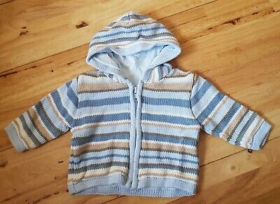 Baby boys hooded lined cardigan age 3 months by M&S
