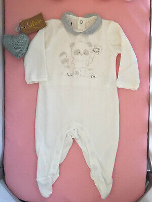 🌸 Baby Girl White Cute Sleepsuit. Size 0-3 Months 🌸
