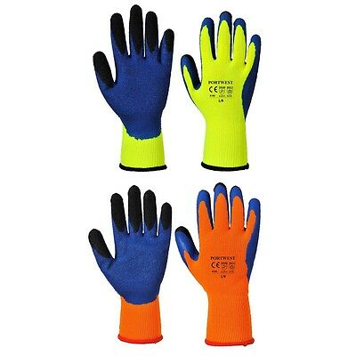 11 x Portwest A185 DUO-THERM Thermal Winter Warm Work Safety Grip Gloves ***