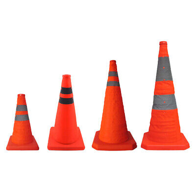 Collapsible Reflective Road Safety Traffic Cone Warning Sign Portable Durable