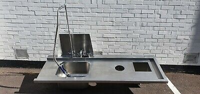 Stainless Steel Double Bowl Sink Top with Spray Arm Rinse Tap