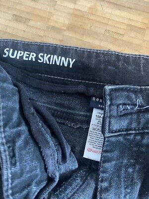Next Super Skinny Washed Black Ripped Jeans Age 11