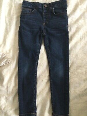 Boys River Island mid blue skinny jeans age 5 years