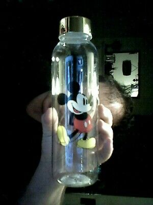 Disney Mickey Mouse Picture Gold Decorated Lid Water Bottle Birthday Christmas