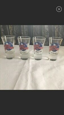 """Lot of 4 PLANET HOLLYWOOD Shot Glasses 4"""""""