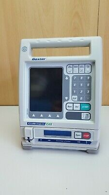 Baxter CXE single channel infusion Pump driver colour screen with pole clamp