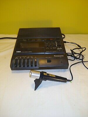 Panasonic # RR-830 Standard Cassette Transcriber, with mic, used,works as should