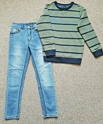 Boys Next jeans age 8-9 skinny & Ben Sherman jumper bundle
